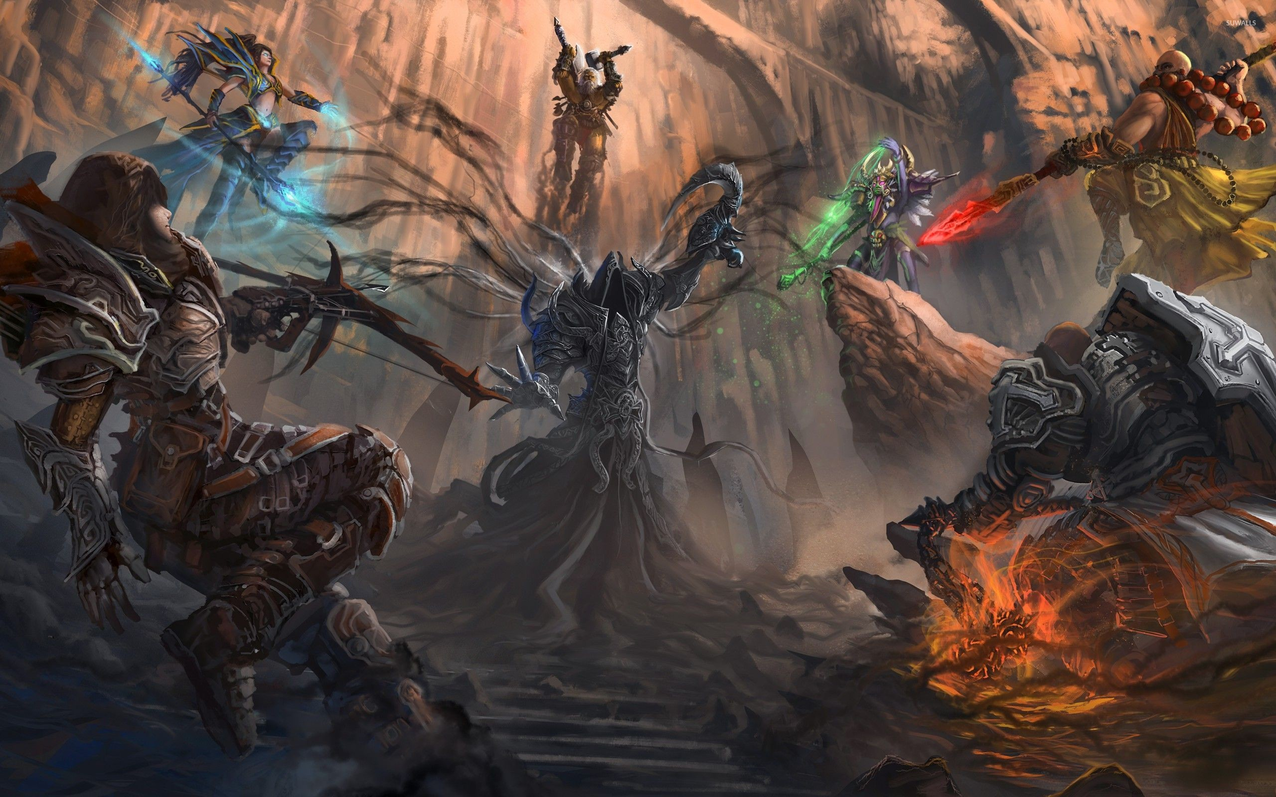 Heroes in Diablo III wallpaper