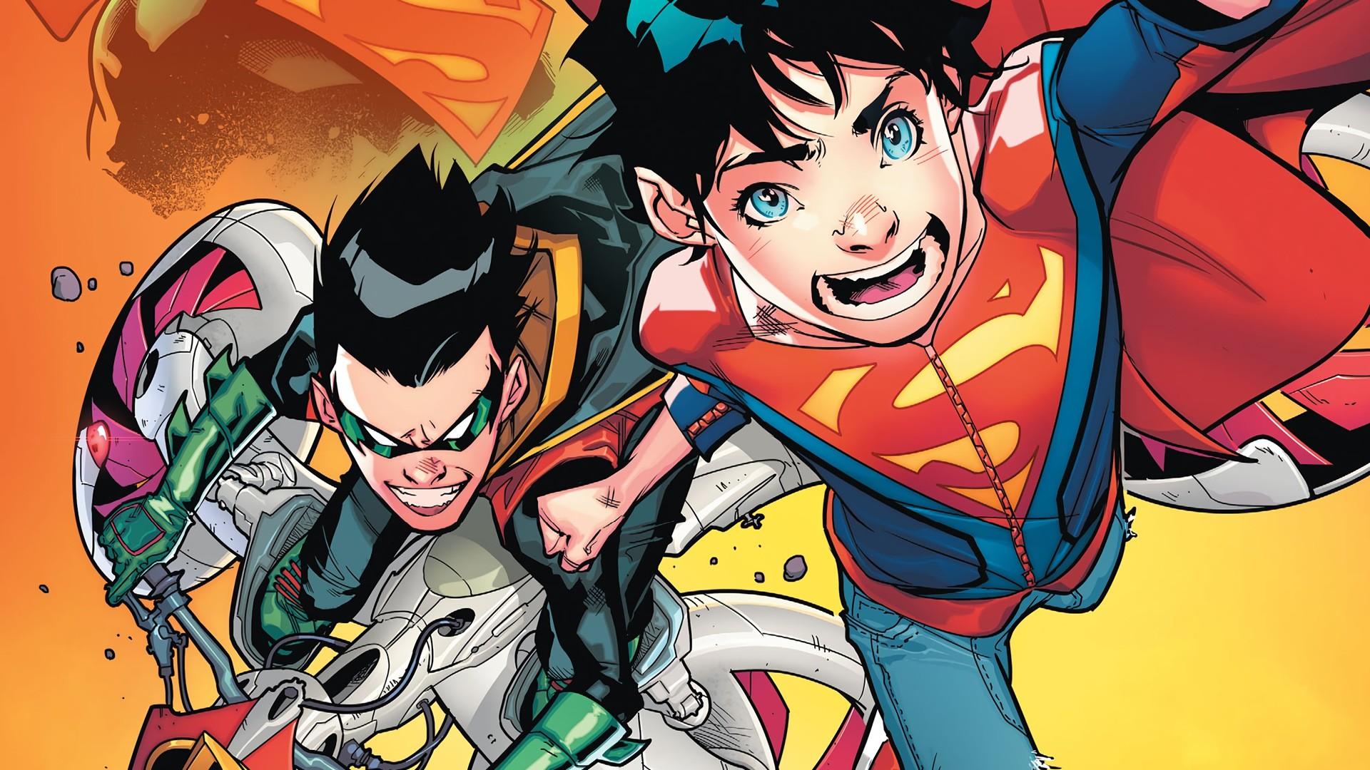 Comics – DC Comics Robin (Batman) Damian Wayne Superboy Superman Wallpaper