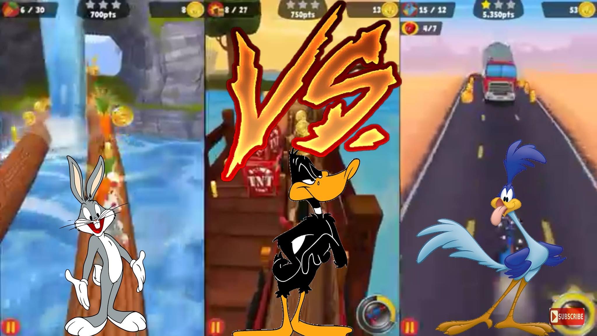 LOONEY TUNES – BUGS BUNNY vs DAFFY DUCK vs ROAD RUNNER Gameplay 2016