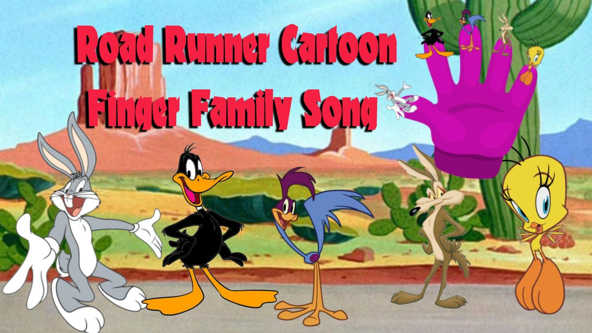 Road Runner Cartoon Finger Family Song | Nursery Rhymes for Children's