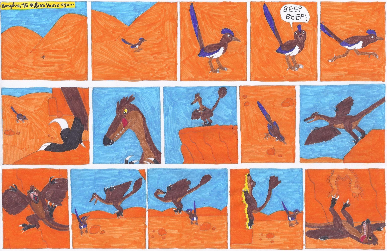 … Prehistoric Road Runner Page 1 by RickRaptor105