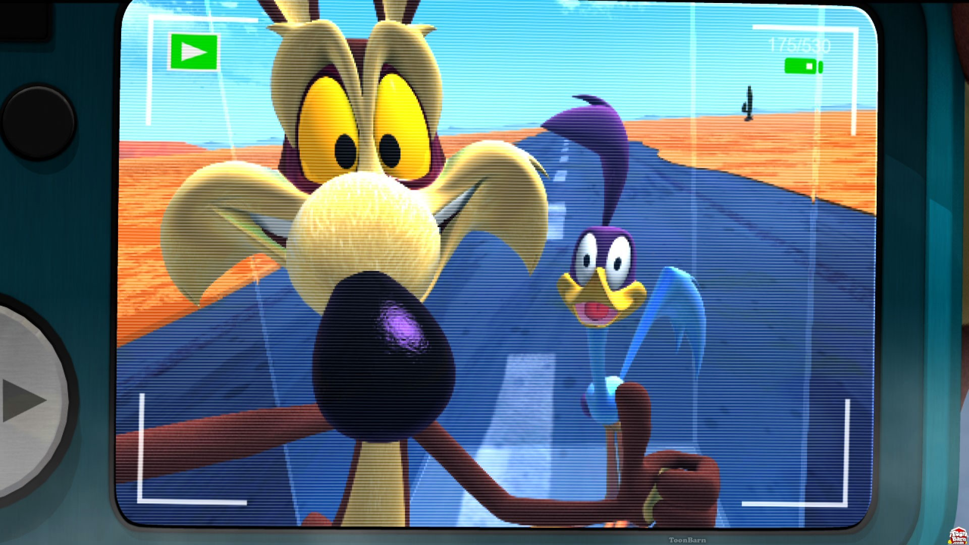 Road Runner and Wile E Coyote on film