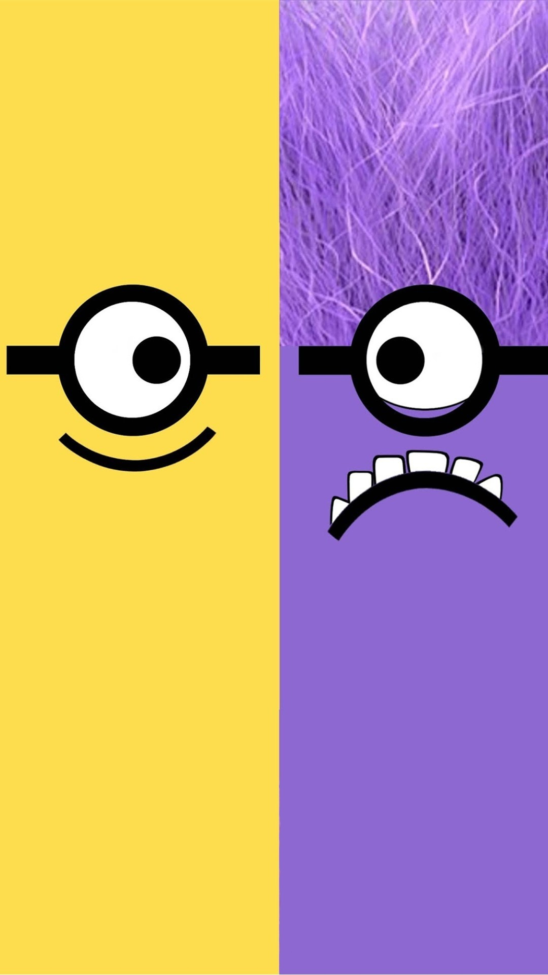 Despicable Me yellow and purple minion iphone 6 plus wallpaper HD for 2014  Halloween #2014