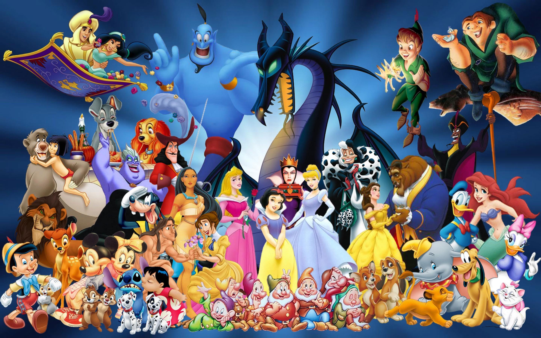 Disney Cartoon Characters Desktop Background. Download …