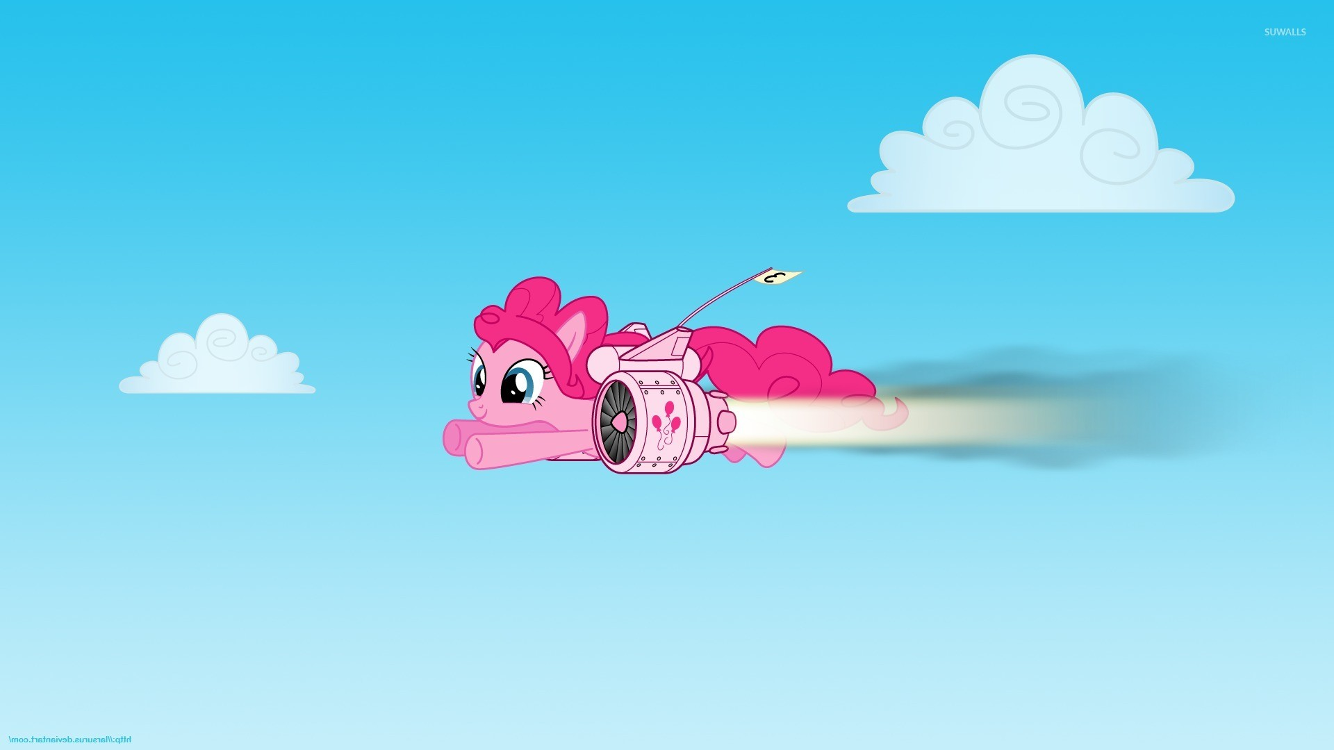 Pinkie Pie with a jet pack – My Little Pony wallpaper jpg