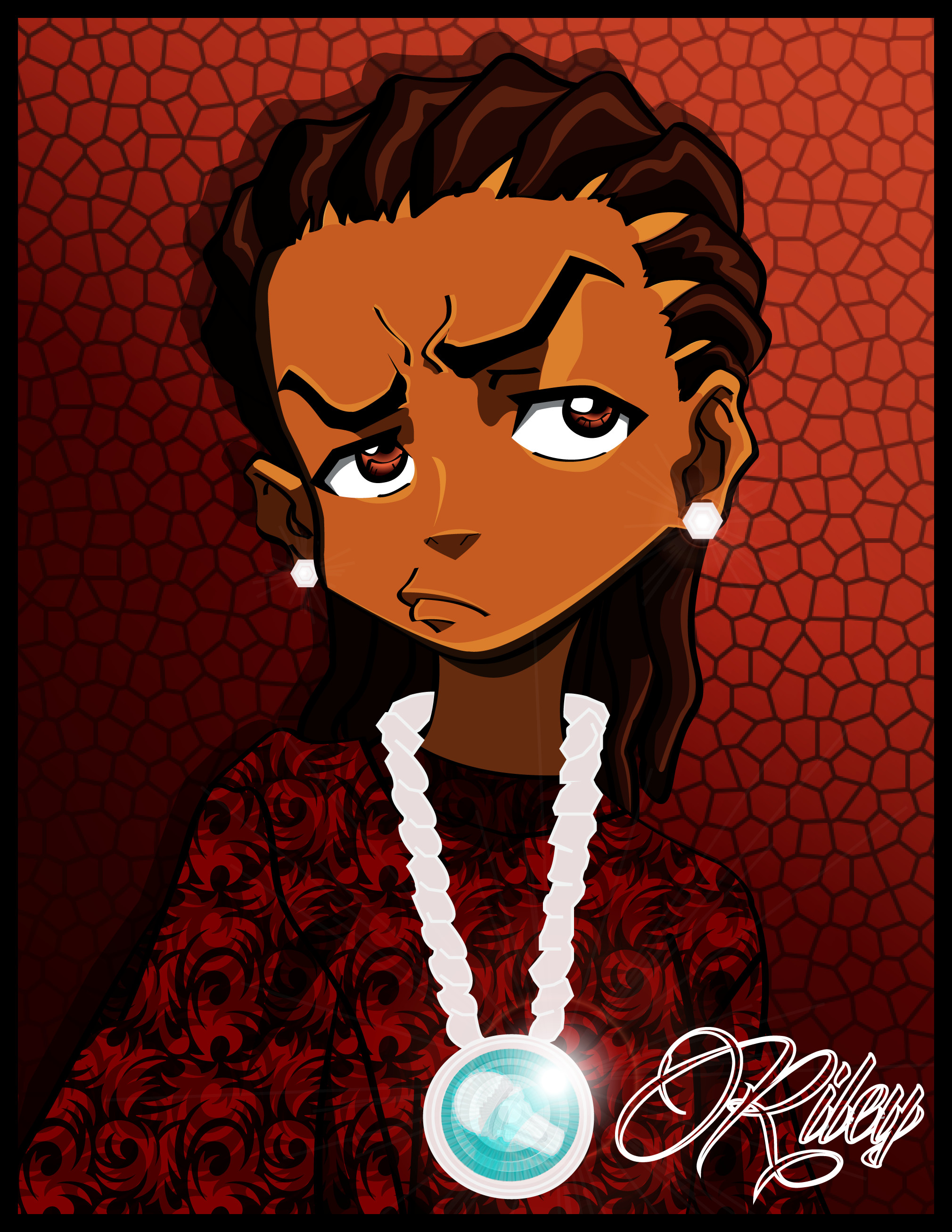 The Boondocks Riley Gangster Riley freeman with his lethal