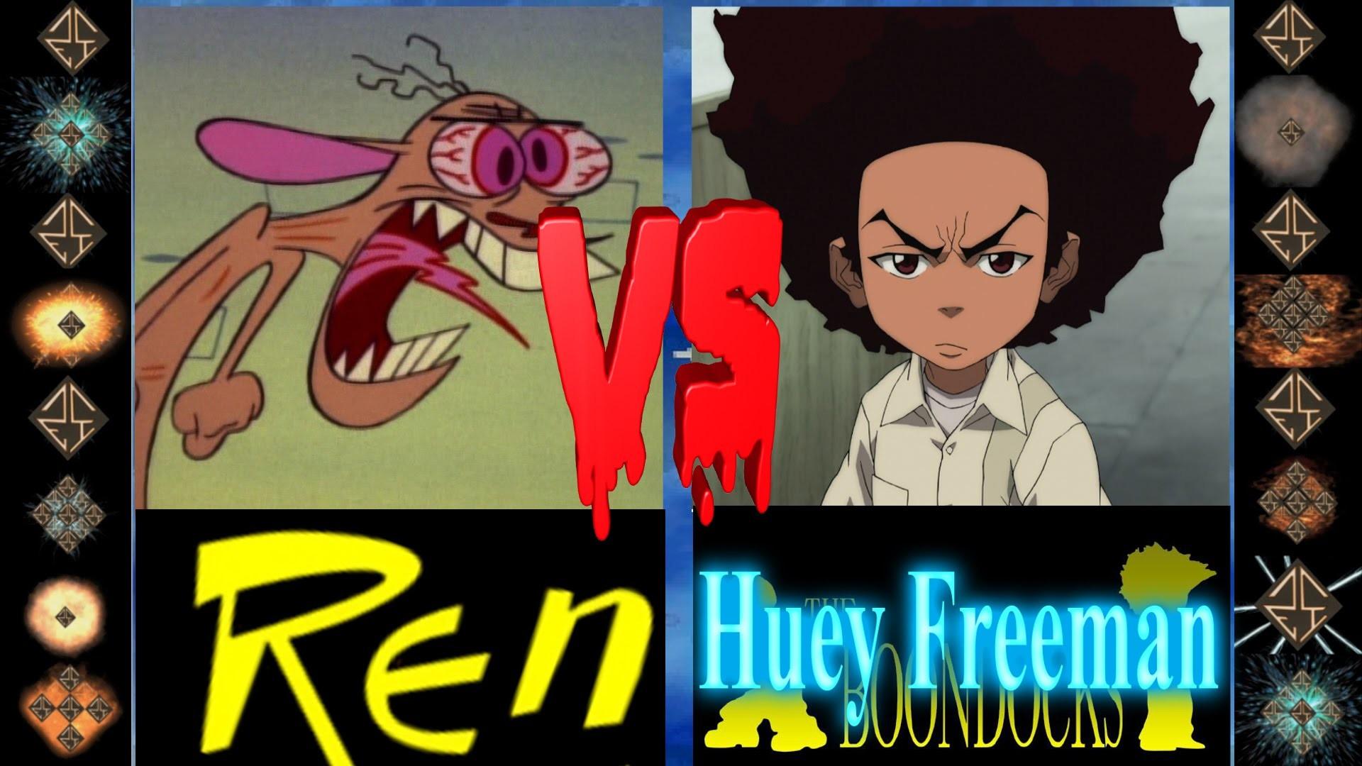 Ren (John Kricfalusi) vs Huey Freeman (The Boondocks) – Ultimate Mugen  Fight 2016
