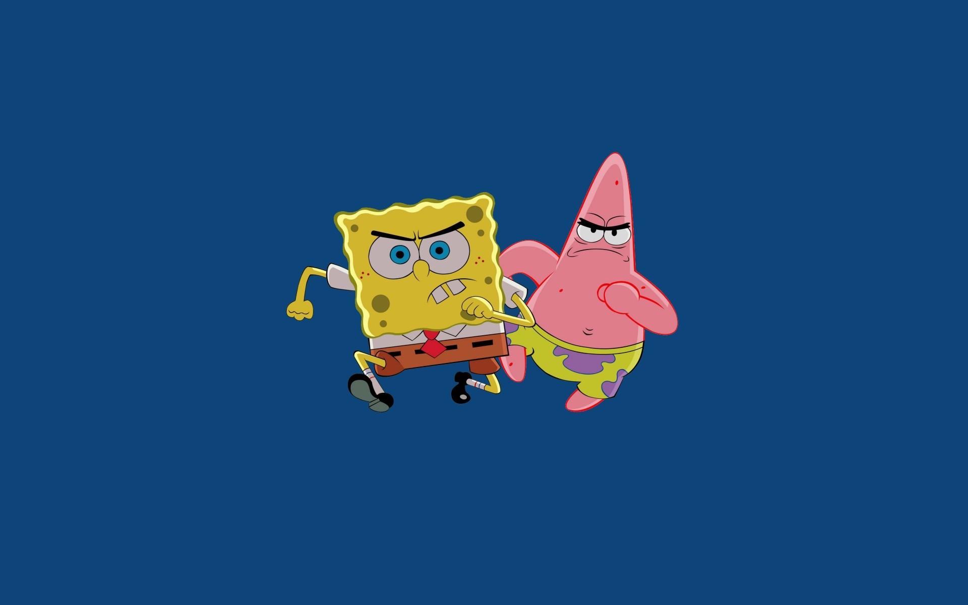 SpongeBob and Patrick simple wallpaper: