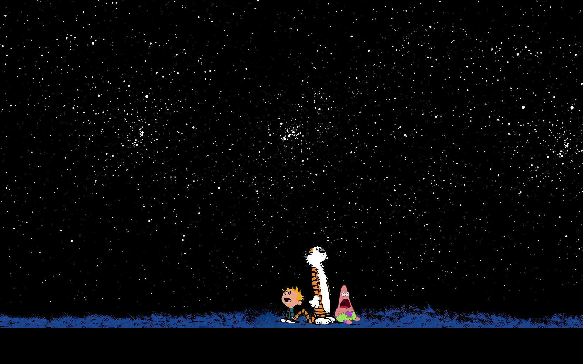 Calvin, Hobbs, and Patrick gazing at the stars. – Imgur