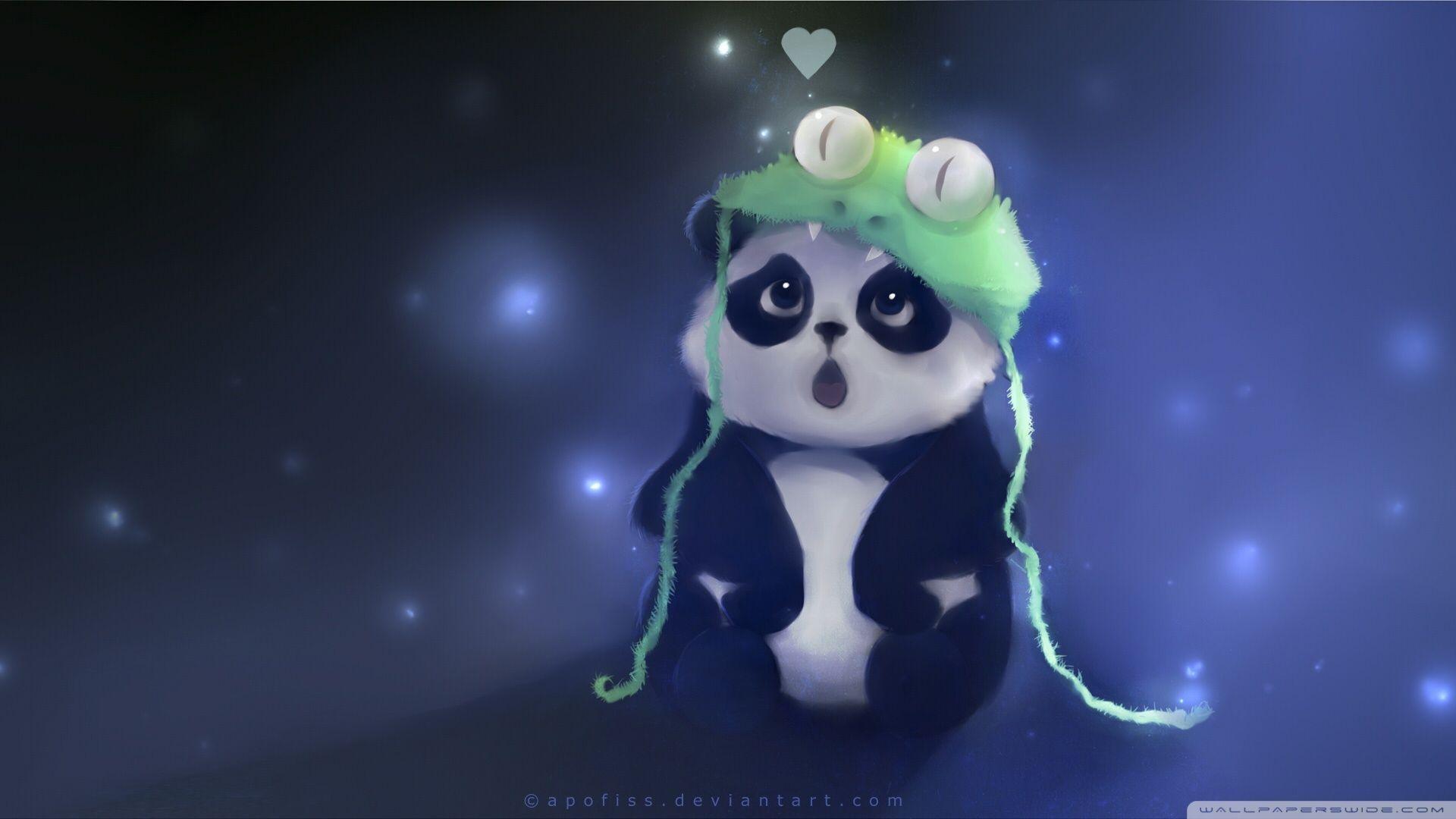 Animals For > Cartoon Pandas Wallpaper