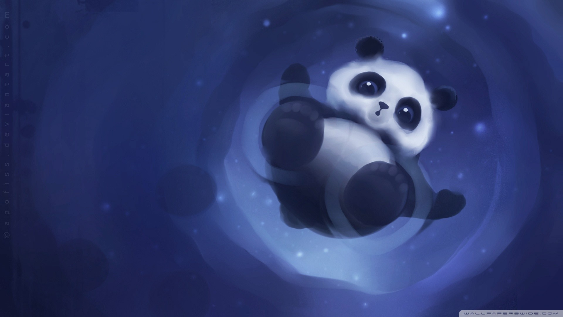 Panda Walking On Water HD Wide Wallpaper for Widescreen