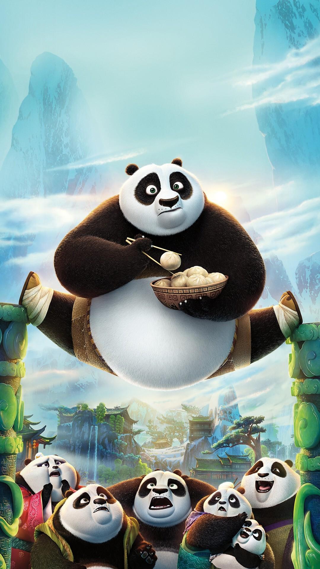 Kungfu Panda Art Illust Film Disney Iphone Wallpaper.