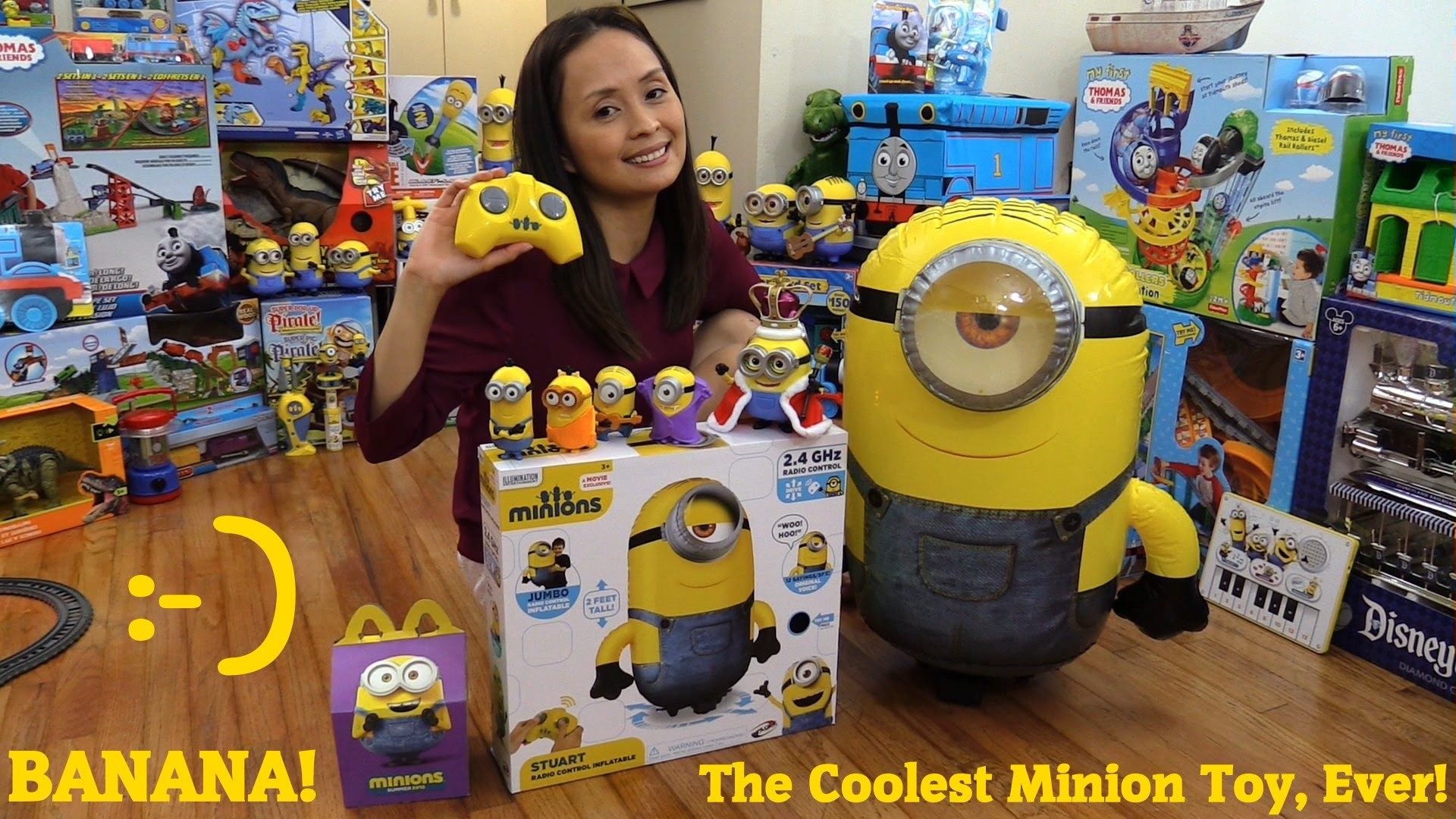 King BOB The Minion Action Figure, Happy Meal Minion and Stuart RC  Inflatable Unboxing – YouTube