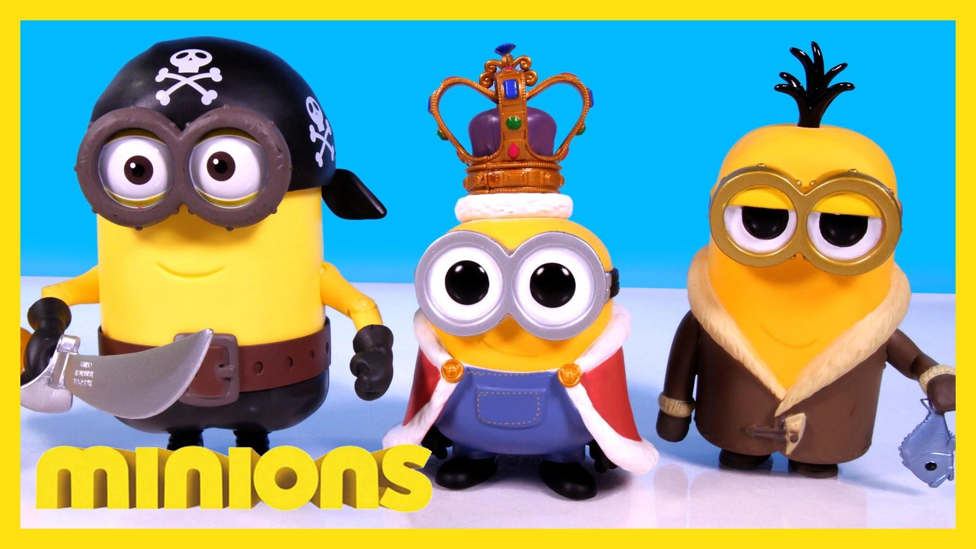 Minions Toys 2015 Build-A-Minion Pirate/Cro-Minion & FUNKO POP King Bob &  Bored Silly Kevin – YouTube