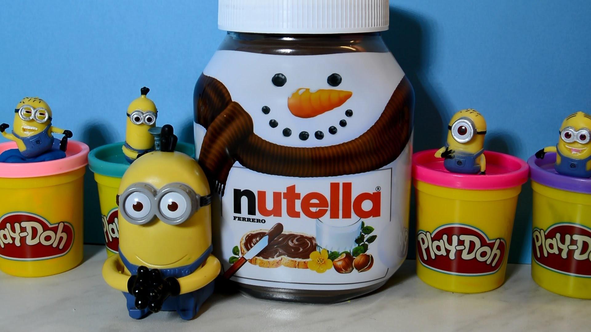 Minions Stuart Kevin and Bob Unboxing Big Nutella