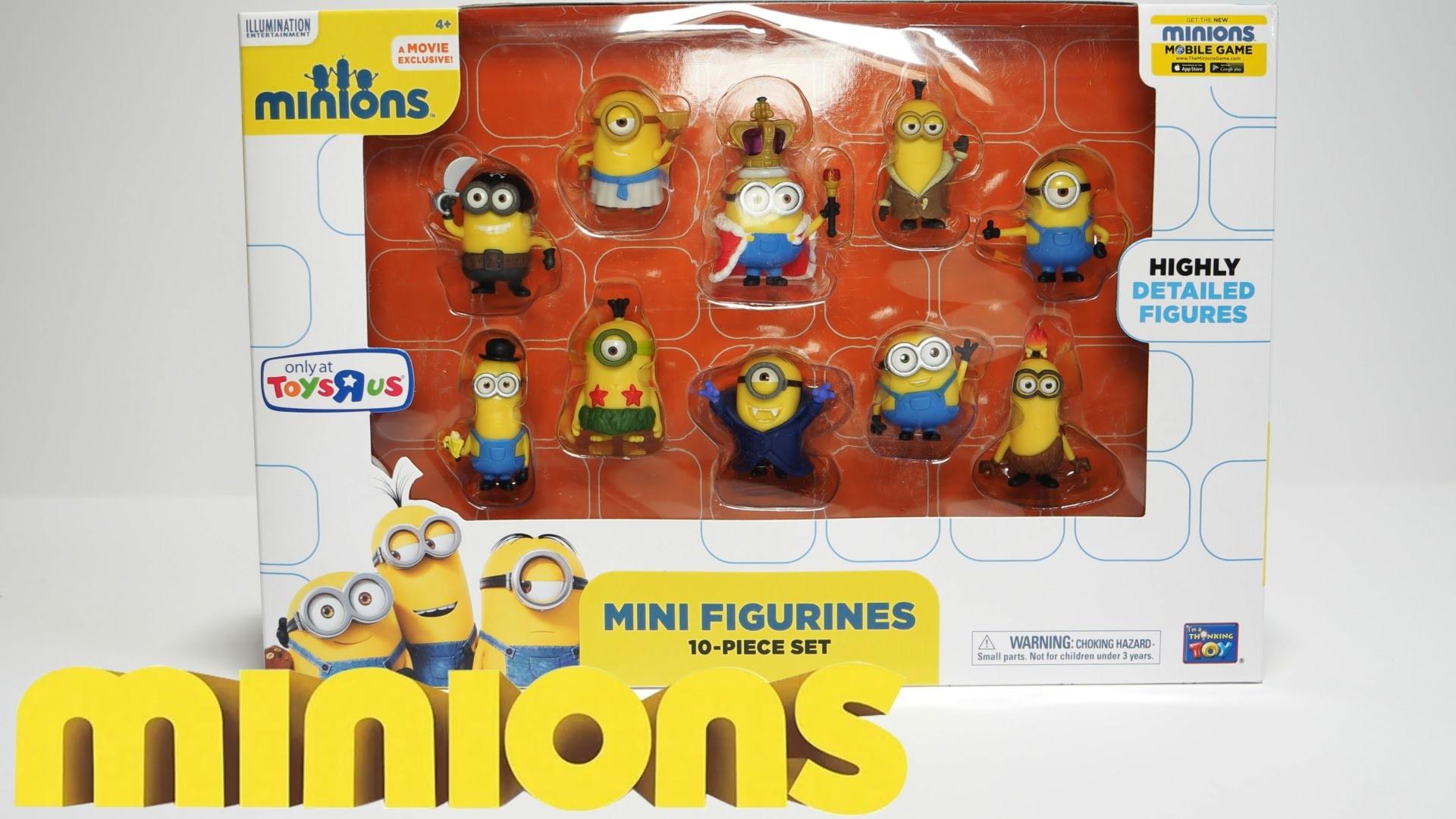 MINI FIGURINES 10 PIECE SET – New 2015 Minions Movie Exclusive Toys –  YouTube