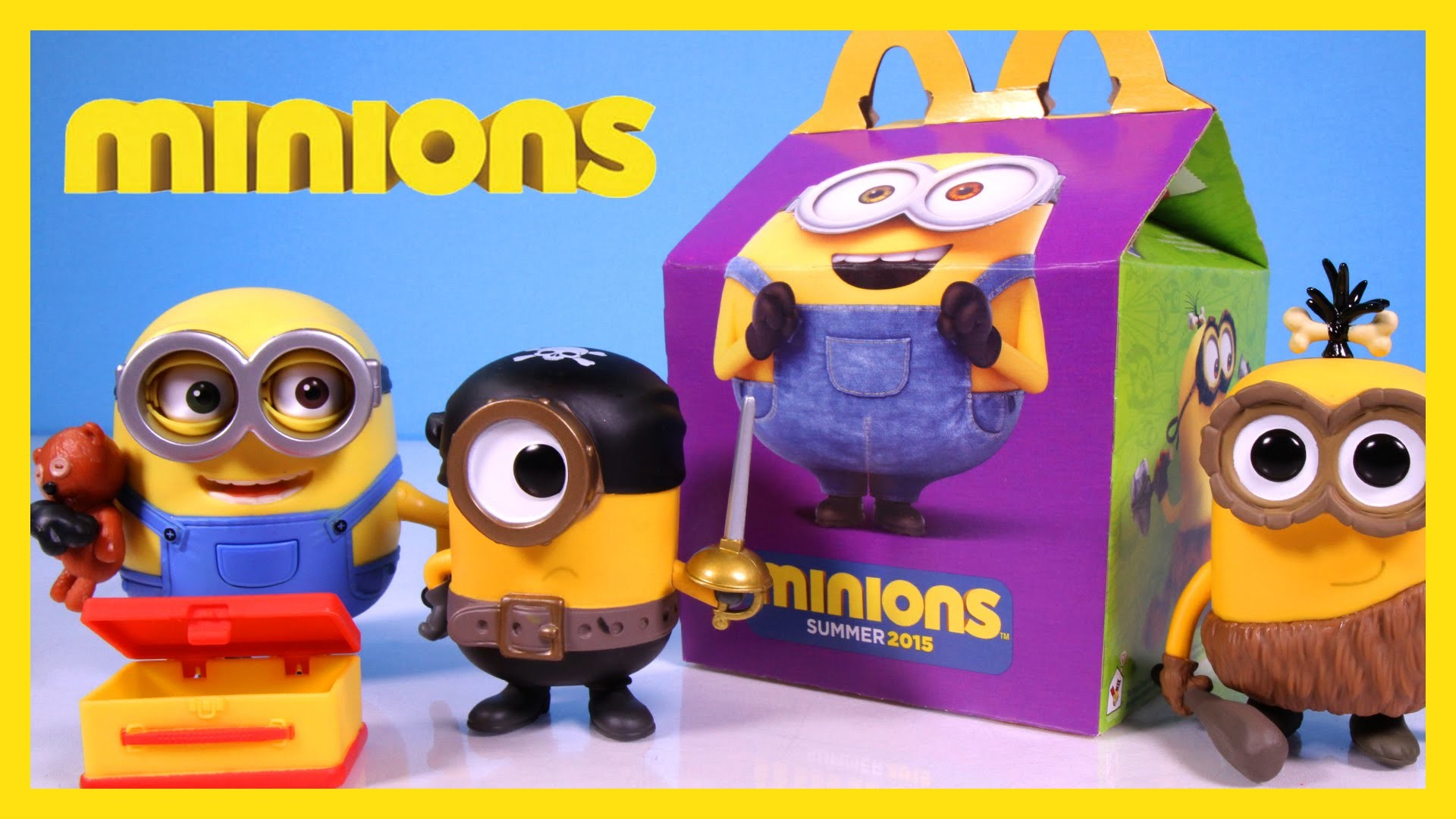 Minions Happy Meal Surprise Toys from McDonald's, Deluxe Figure Bob and  Pirate & Caveman Funko Pops