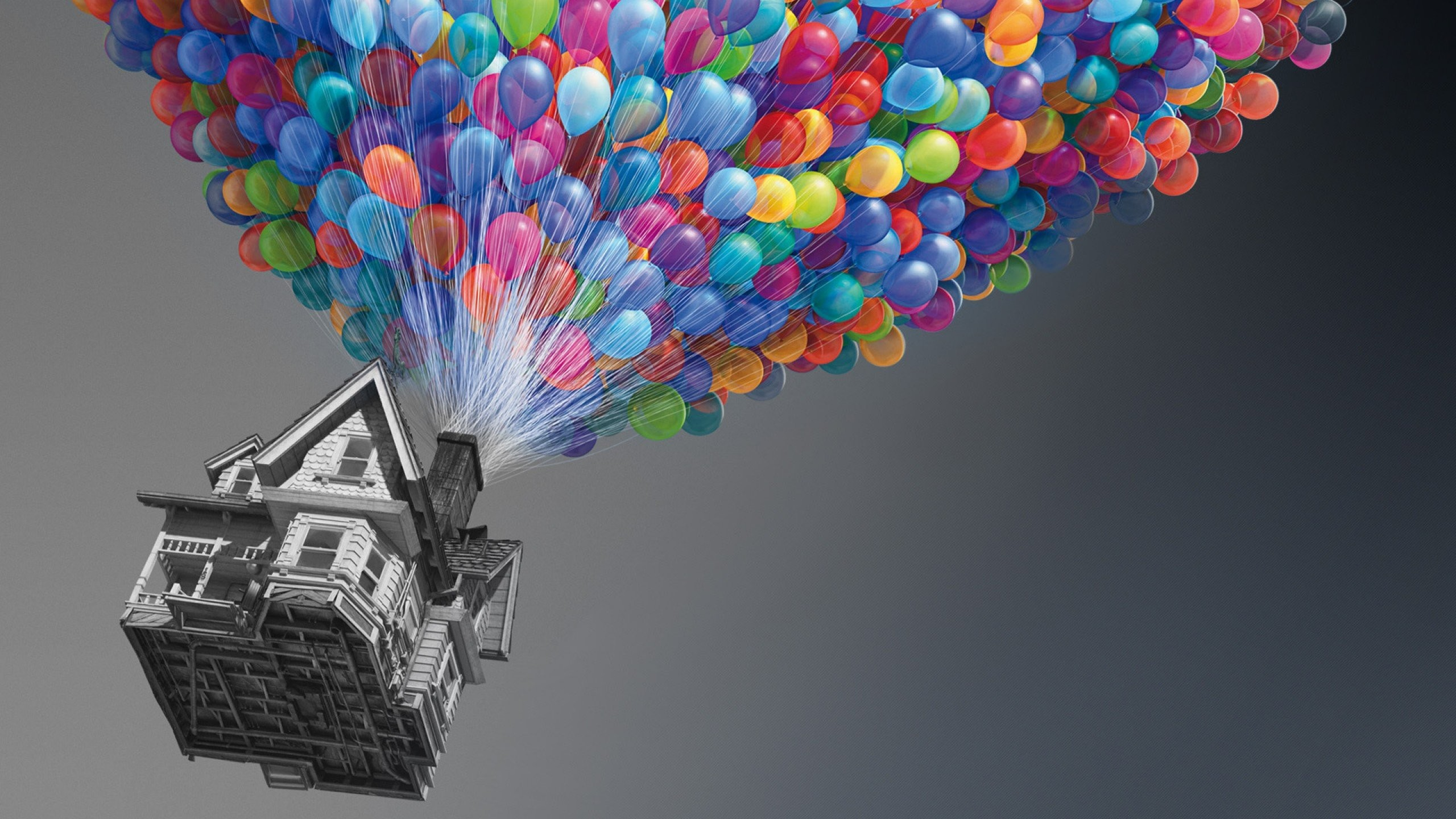 Balloons Flying Houses Movies Selective Colors free iPhone or Android Full  HD wallpaper.