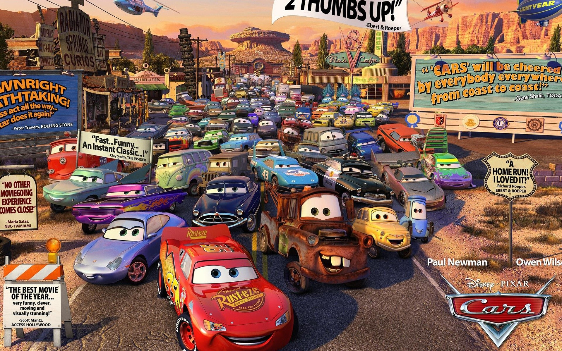 Cars Movie Review HD Desktop Wallpaper