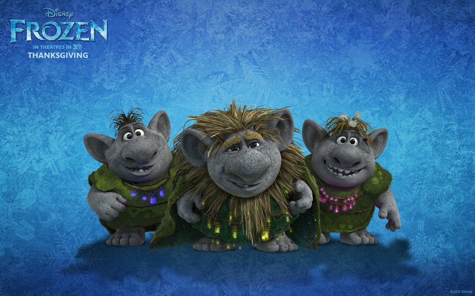 Trolls from Disney's movie Frozen wallpaper