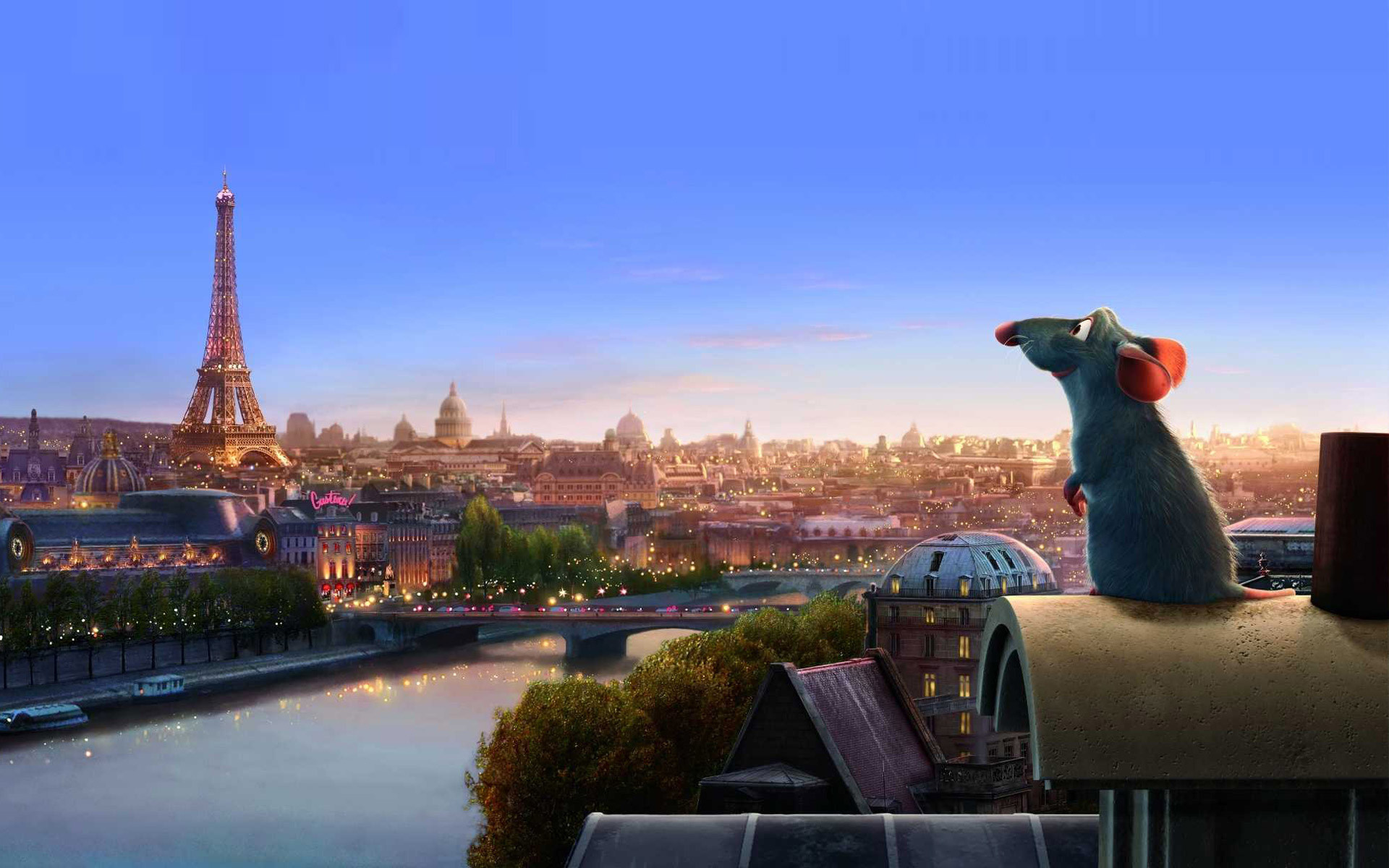 Wallpaper, myshenok, Paris, France, cartoon, disney, pixar .
