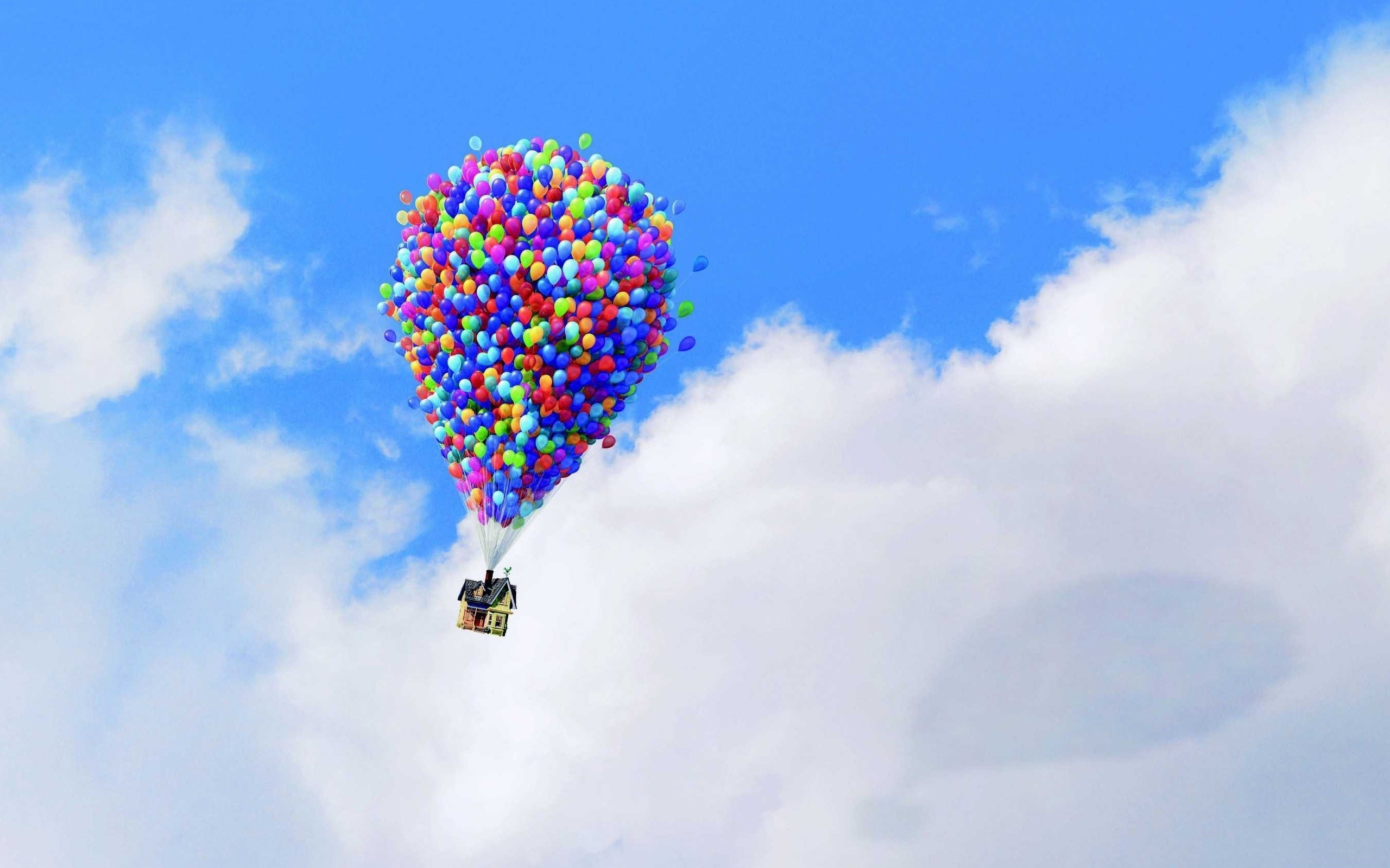 Up Wallpaper, Up, pixar, Pixar, animation, balloons, house, sky