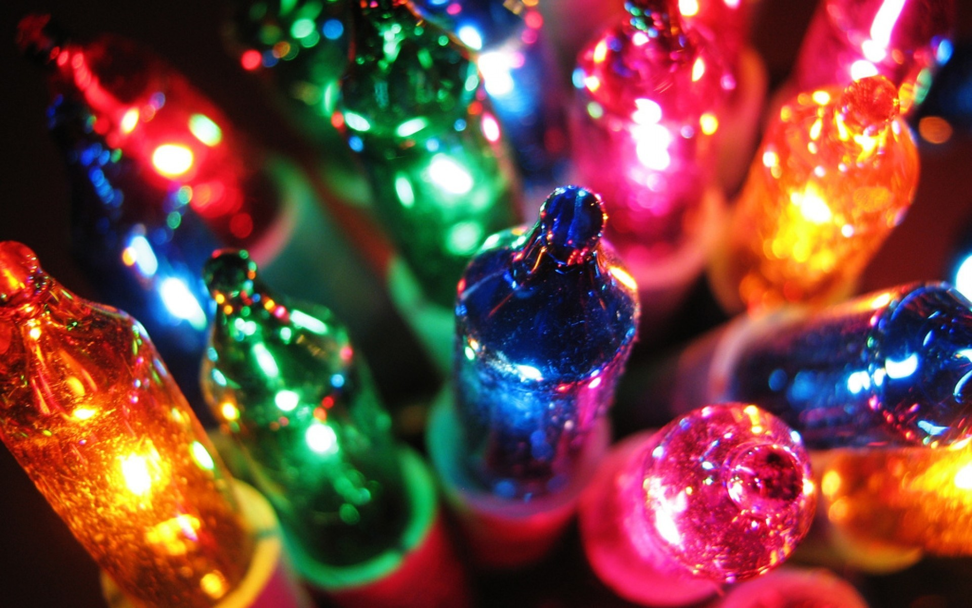 Colorful christmas lights desktop background hd wallppaer.