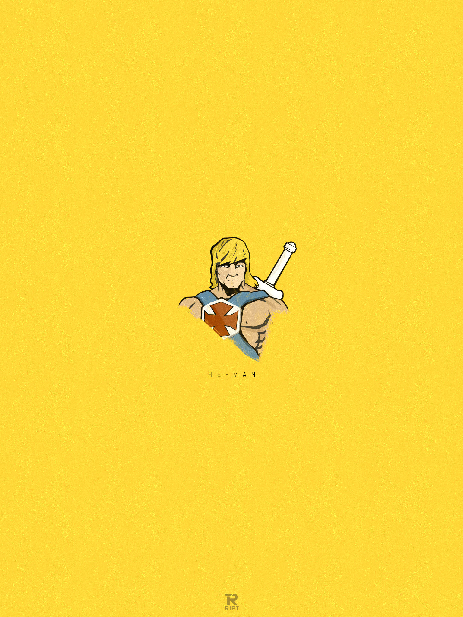 RIPT T-shirts: He-Man Poster & Wallpaper iPhone 5, and iPad