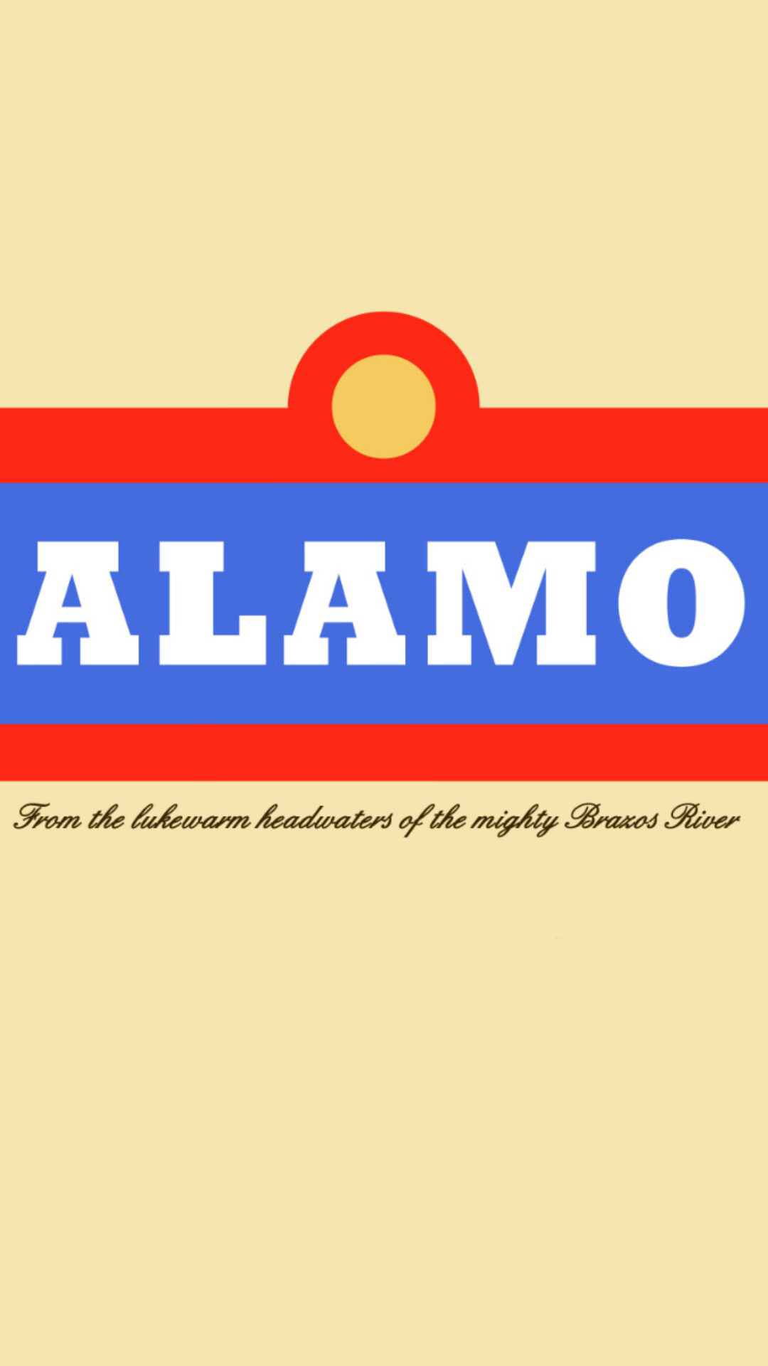 I made an Alamo beer phone wallpaper from an image I found.