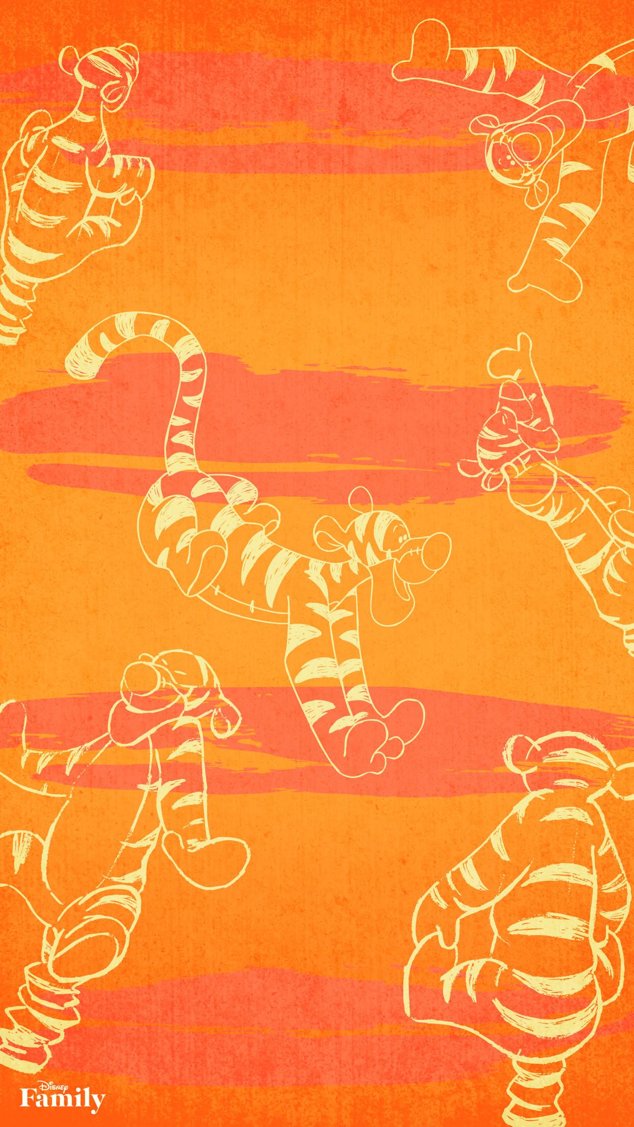 Screen wallpaper · Tigger