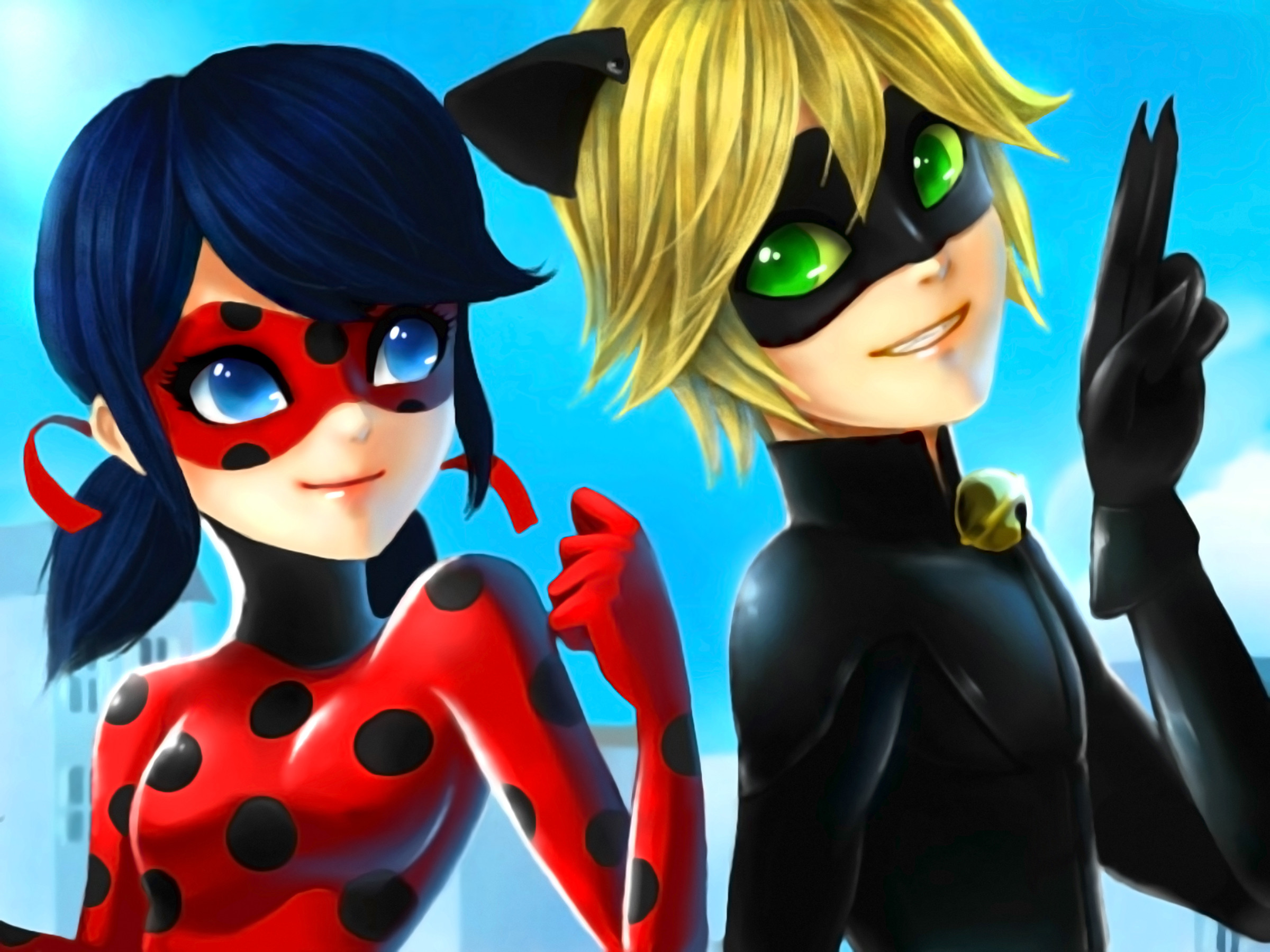 … Miraculous Ladybug And Chat Noir by Flannel-kun