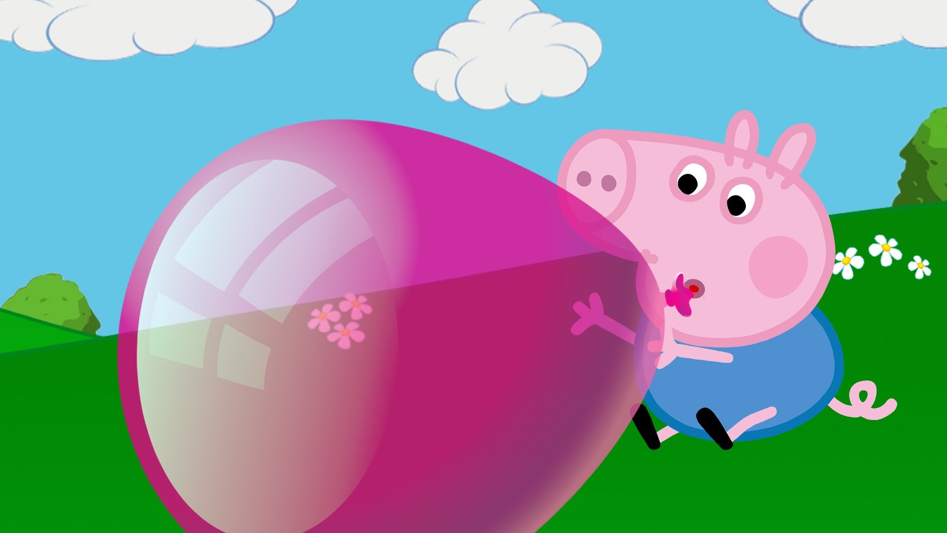 George is crying! George lost his balloon. Peppa Pig English new episodes  2016