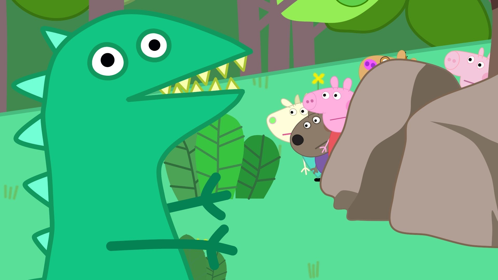 Peppa Pig and friends went hiking lost in the woods Cartoon animation Peppa  pig