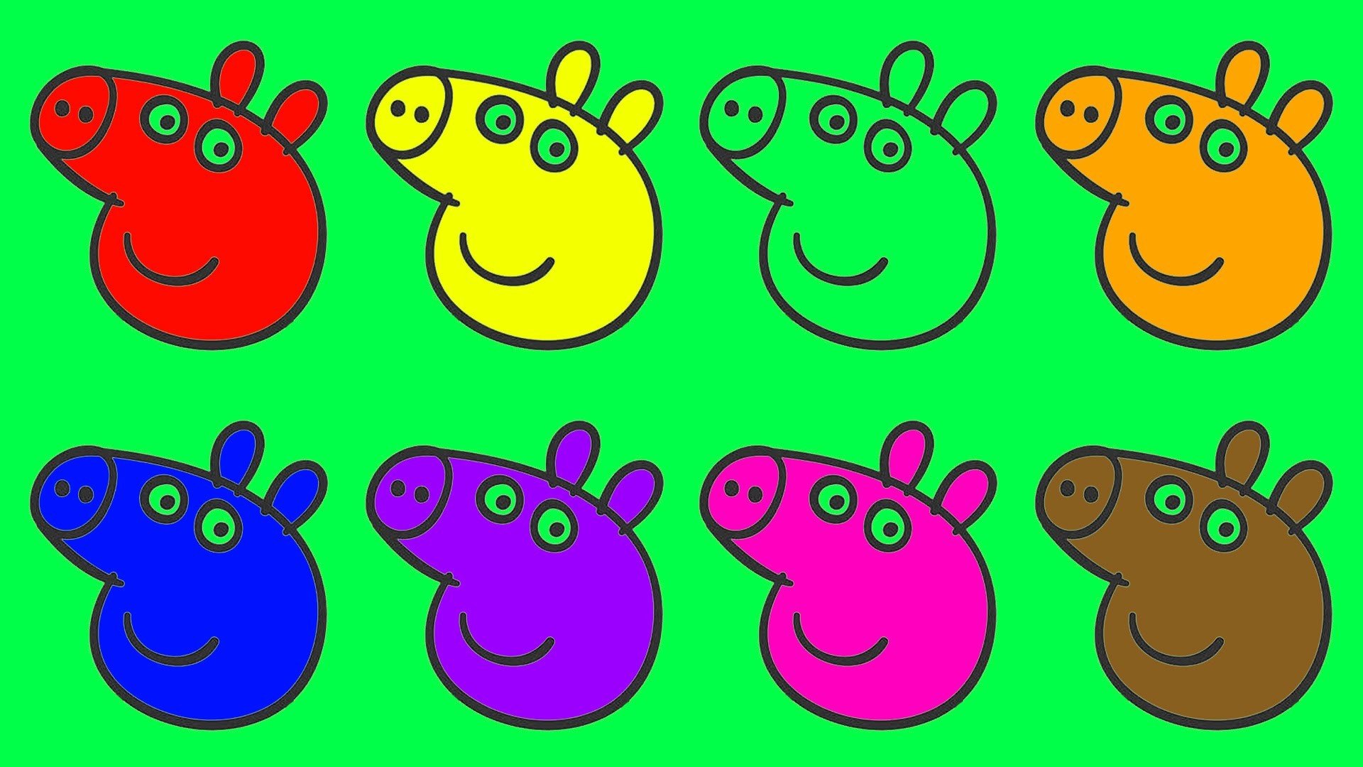 Learn Colours For Children With Peppa Pig English Episodes New Colouring  Pages