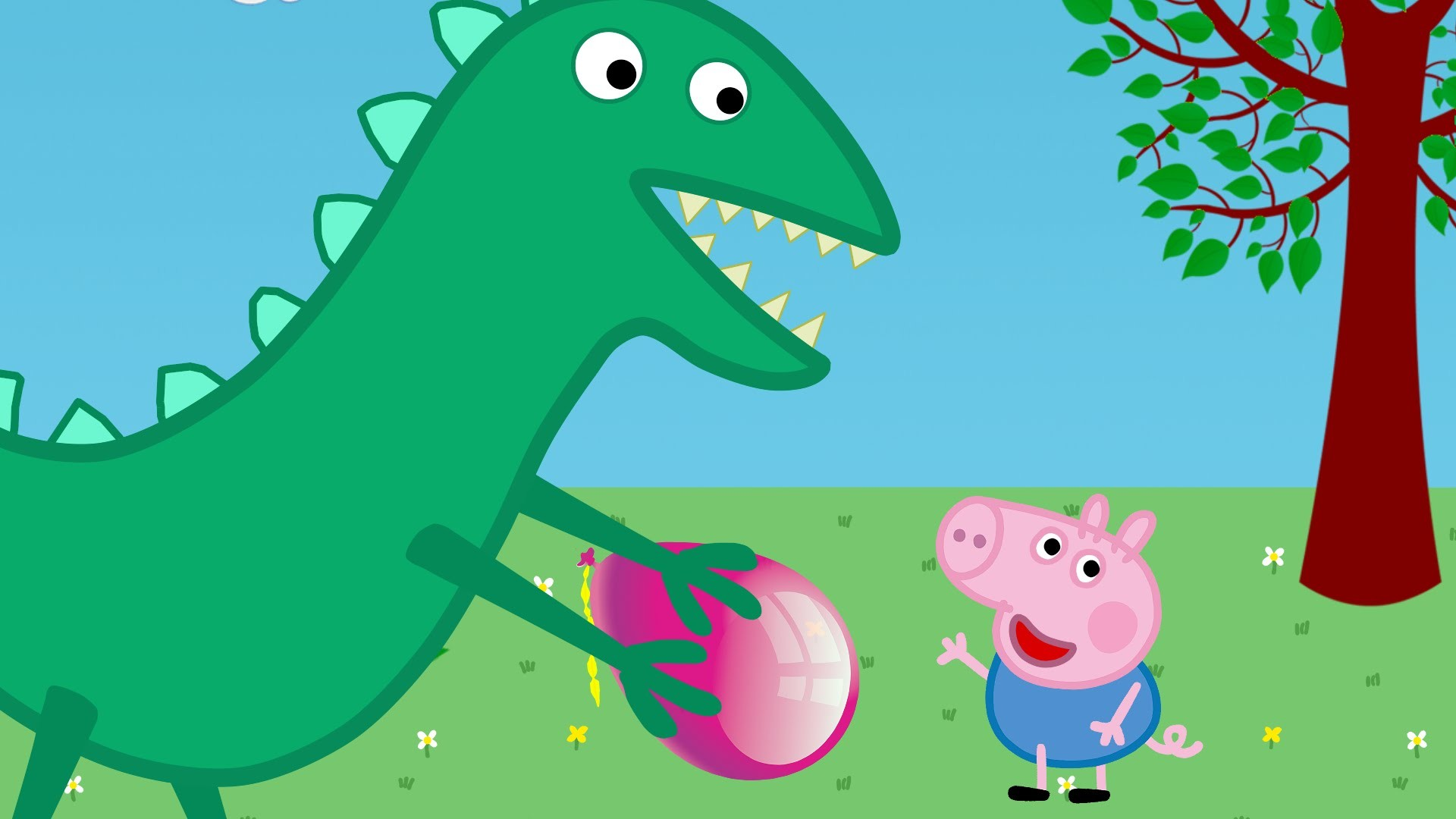 Peppa Pig New episodes 2016 * George crying – Mr.Dinosaur saves George's  balloon – YouTube