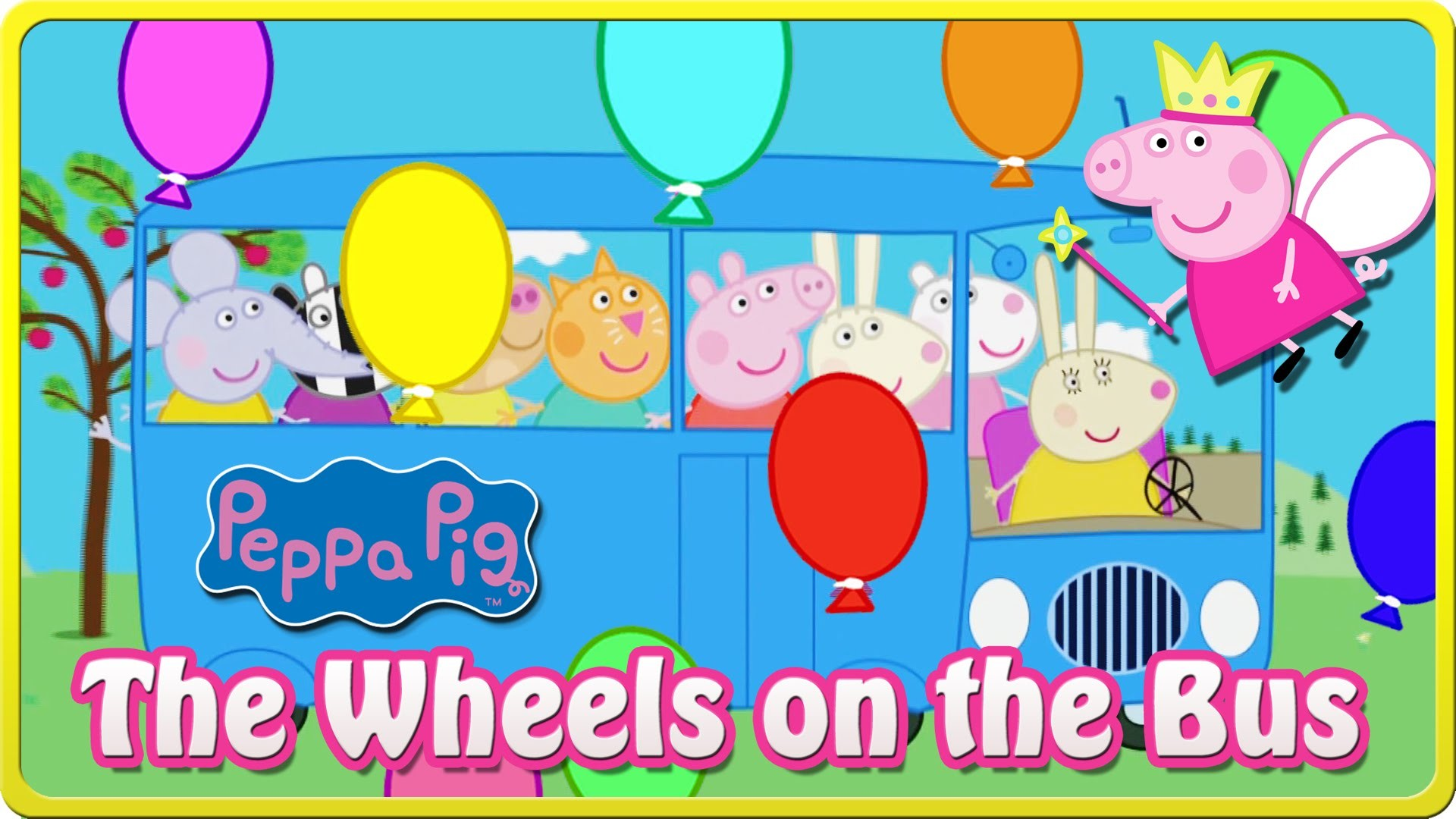 The Wheels on The Bus Peppa Pig HD – The Bus of Peppa Pig Nursery Rhymes –  YouTube