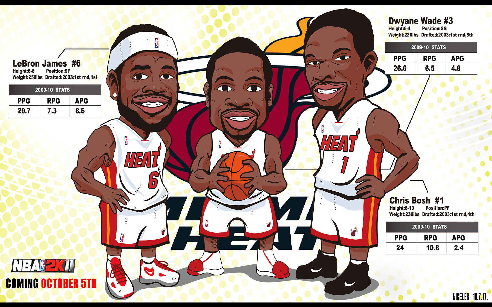 NBA Drawn Widescreen Wallpaper