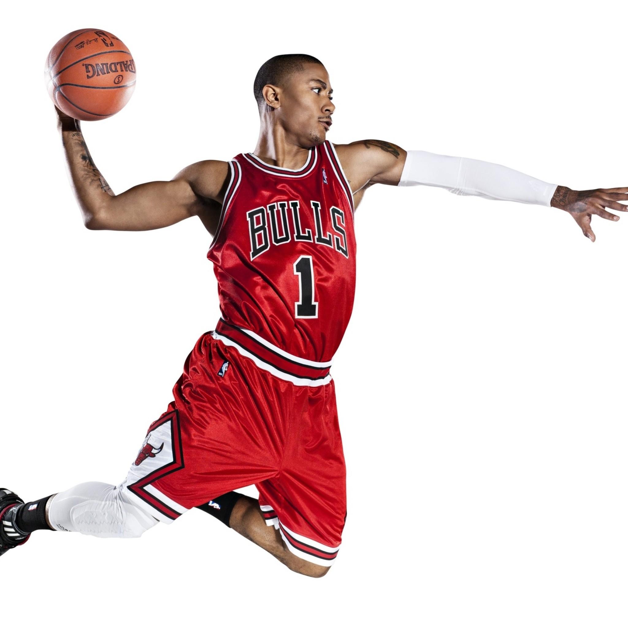 Wallpaper chicago bulls, slam dunk, basketball, nba, derrick rose