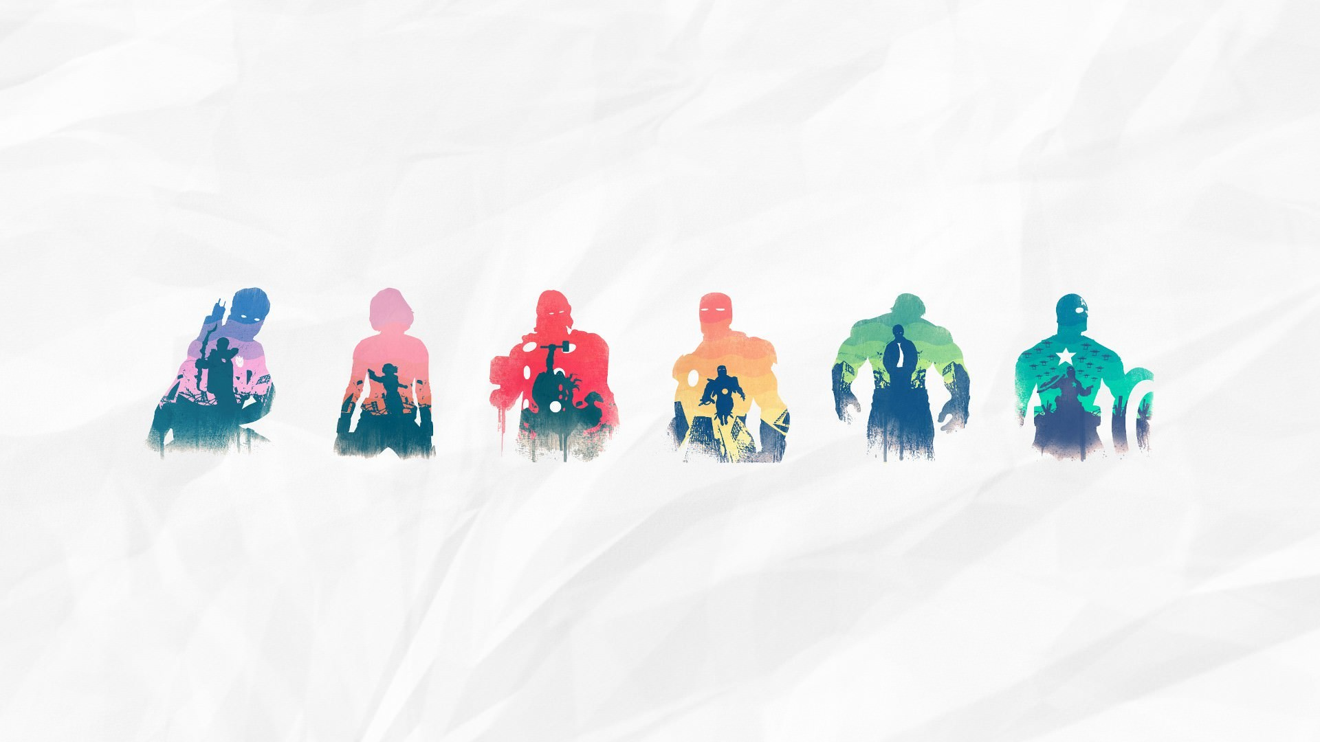 The Avengers Illustrated Wallpaper