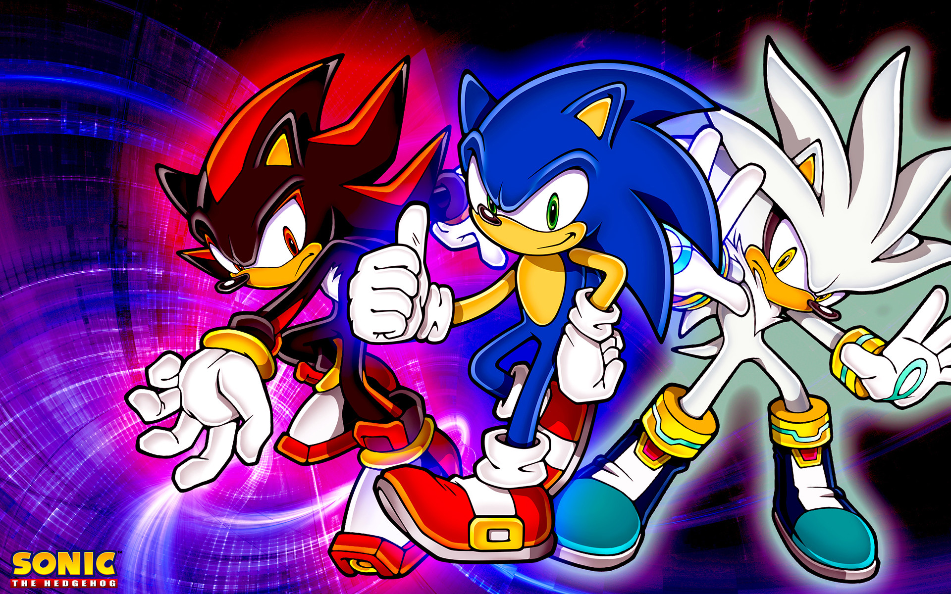 … SonicTheHedgehogBG Sonic,Shadow And Silver Wallpaper by  SonicTheHedgehogBG