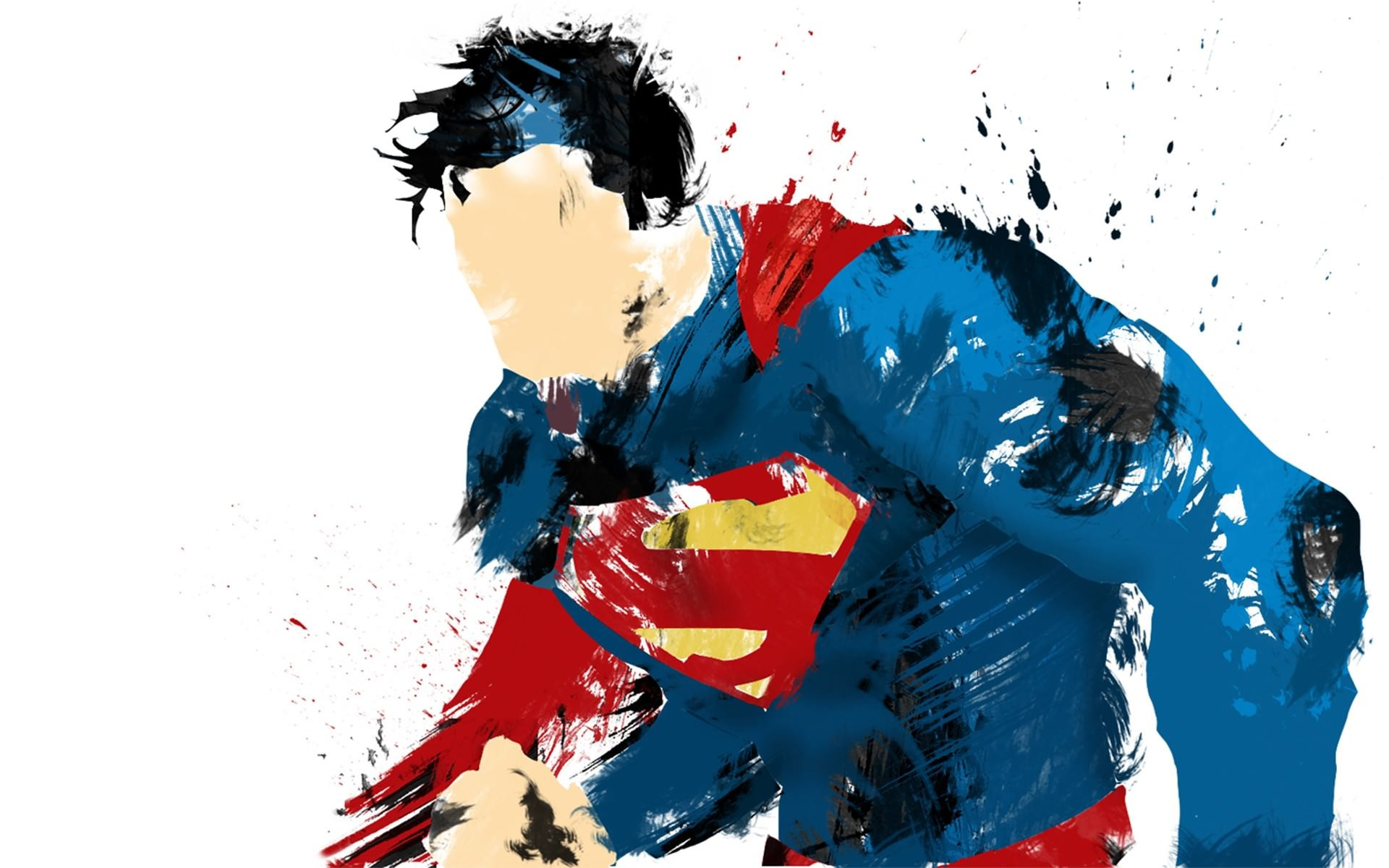 Superman Man of Steel Painted Wallpaper