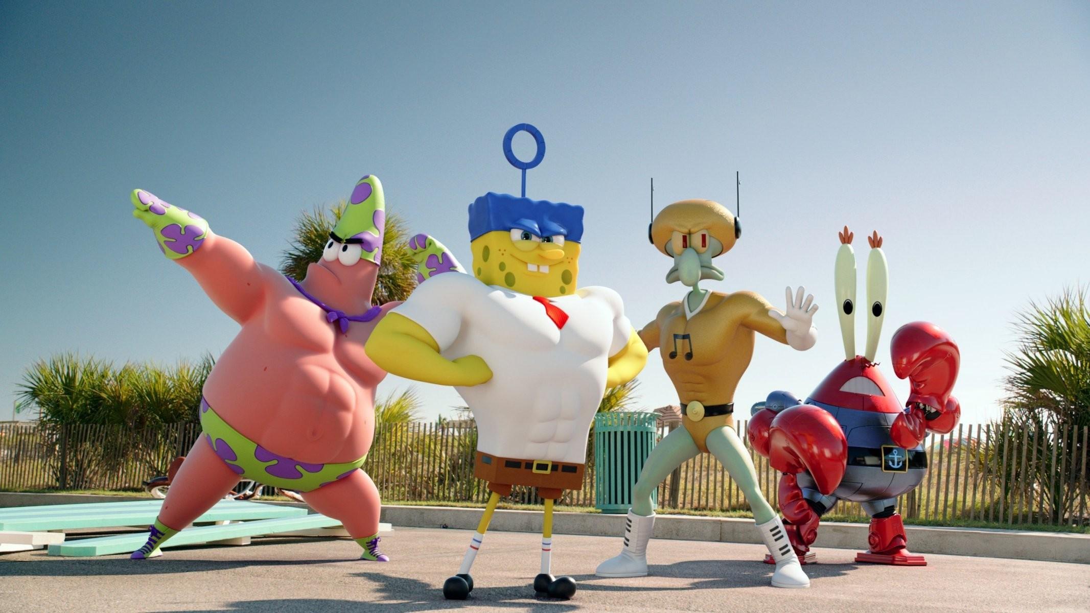 sponge bob patrik spongebob patrick mr. krabs squidward the spongebob movie