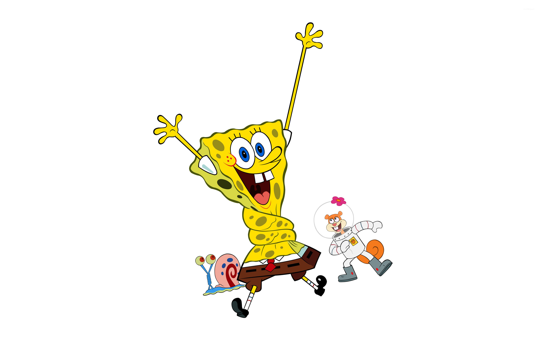 Gary the Snail, SpongeBob SquarePants and Sandy Cheeks wallpaper  jpg