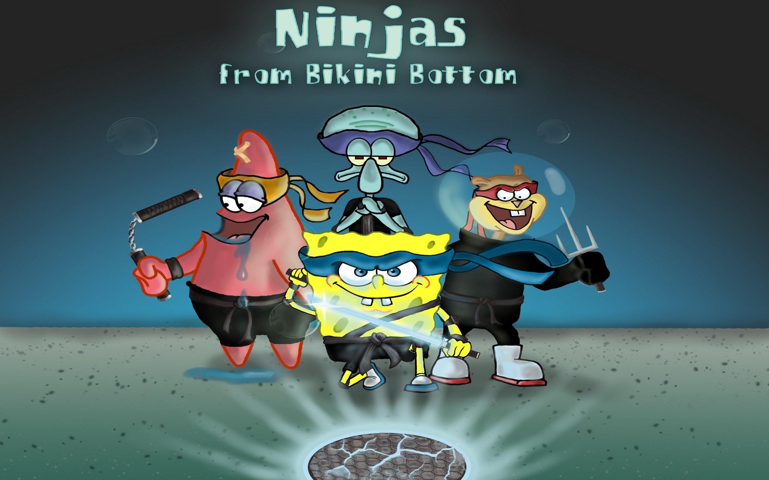 Ninjas From Bikini Bottom. SHARE. TAGS: Patrick SpongeBob SquarePants  Spongebob