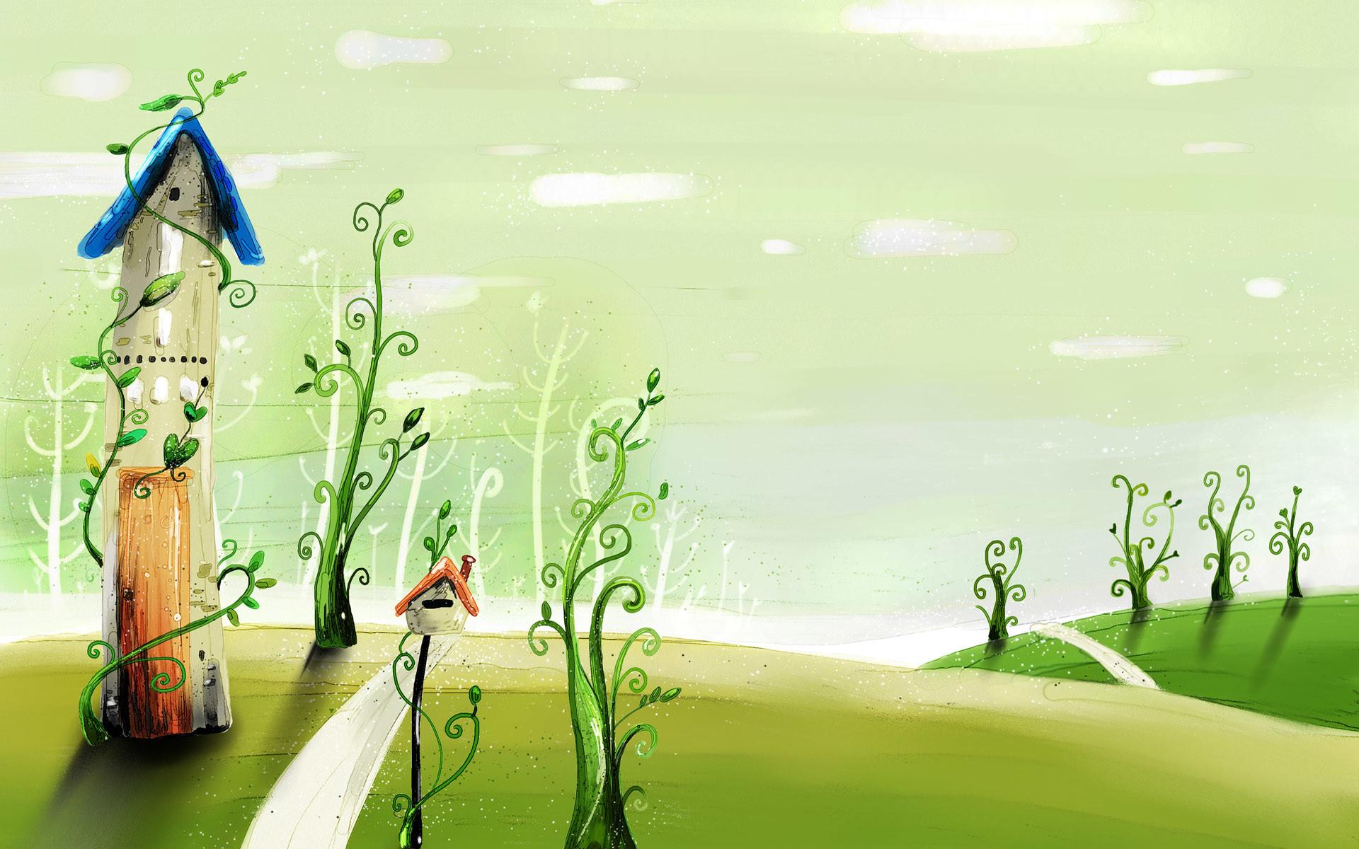 cartoon wallpapers spring , cartoonish background spring , spring .