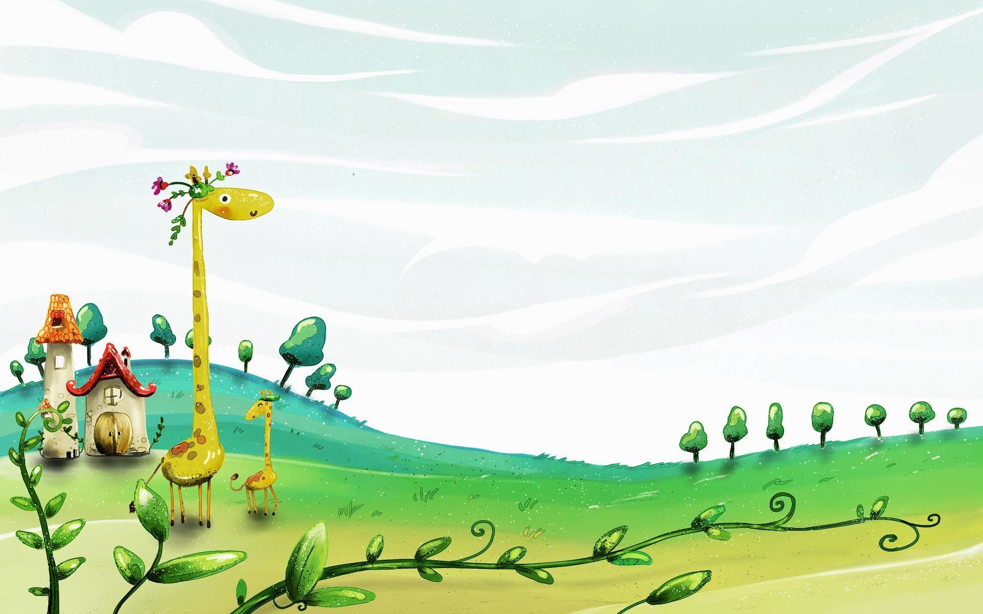 Giraffe-Desktop-Cartoon-HD-Wallpapers