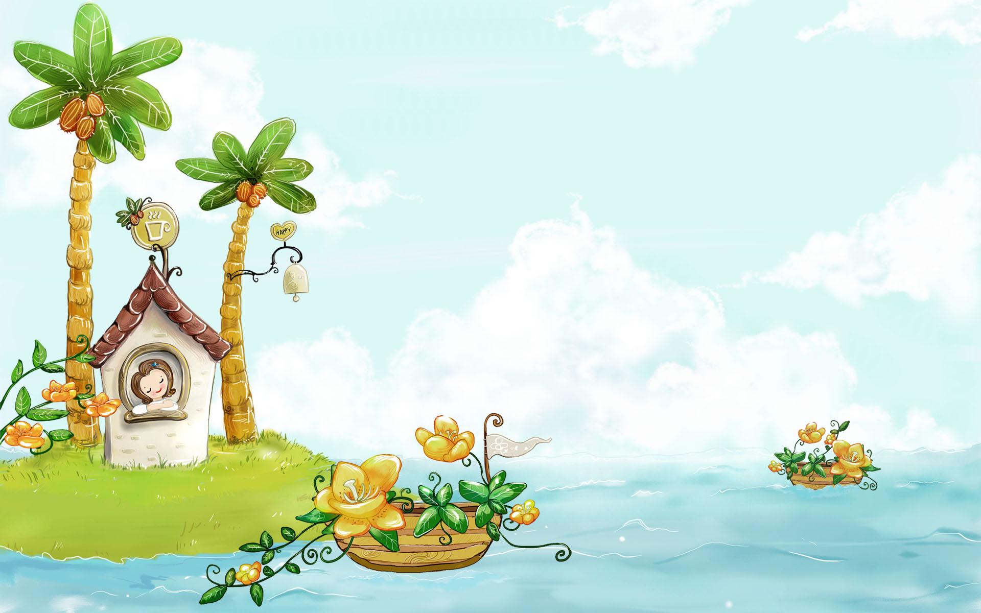 summer-illustration-vector-wallpapers-viewillustrator-cartoon -array-wallwuzz-
