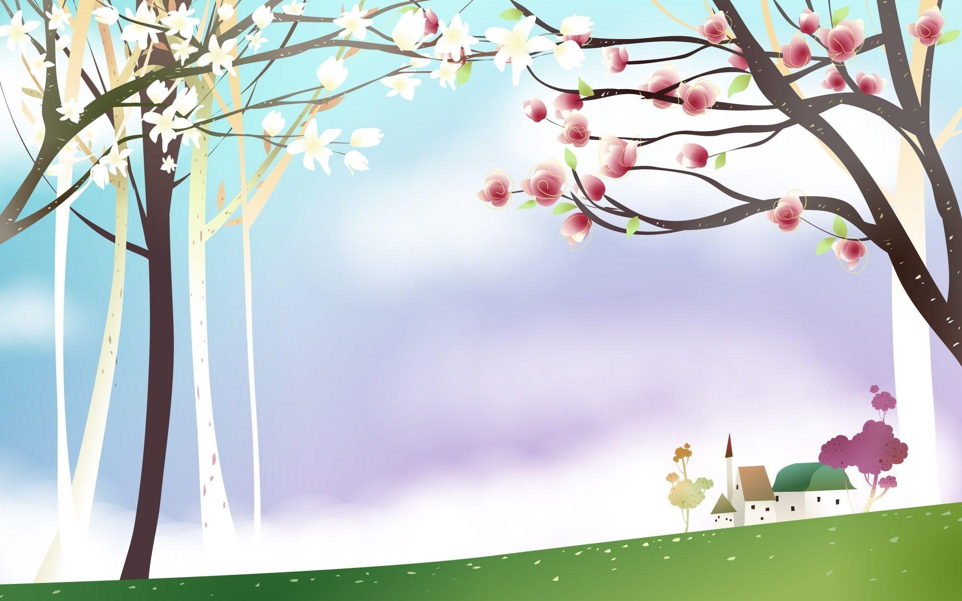 Spring Scenery, beautiful, cartoons, HD Wallpaper and .