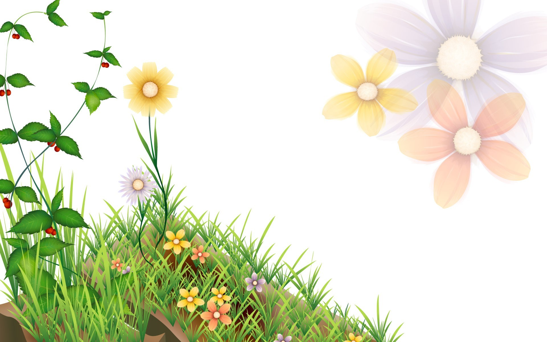 Ppt background green flowers spring flower powerpoint backgrounds