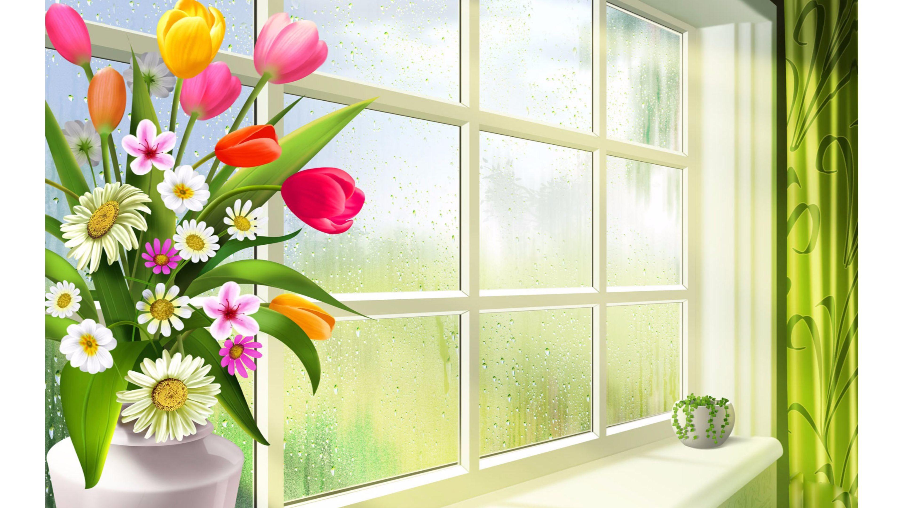 Cartoon Spring 4K Wallpapers